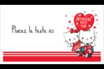 Hello Kitty et Cher Daniel Valentin Cartes Pour Le Bureau - gabarit prédéfini. <br/>Utilisez notre logiciel Avery Design & Print Online pour personnaliser facilement la conception.