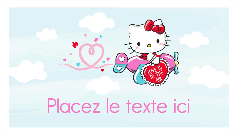 """3"""" x 5"""" Cartes Pour Le Bureau - Hello Kitty Saint-Valentin - Mon cœur monte pour vous"""
