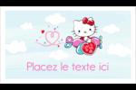 Hello Kitty Saint-Valentin - Mon cœur monte pour vous Cartes Pour Le Bureau - gabarit prédéfini. <br/>Utilisez notre logiciel Avery Design & Print Online pour personnaliser facilement la conception.