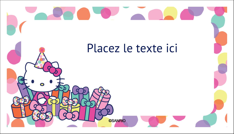"""3"""" x 5"""" Cartes Pour Le Bureau - Hello Kitty Anniversaire"""