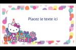 Hello Kitty Anniversaire Cartes Pour Le Bureau - gabarit prédéfini. <br/>Utilisez notre logiciel Avery Design & Print Online pour personnaliser facilement la conception.