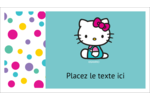 Fête Hello Kitty Cartes Pour Le Bureau - gabarit prédéfini. <br/>Utilisez notre logiciel Avery Design & Print Online pour personnaliser facilement la conception.