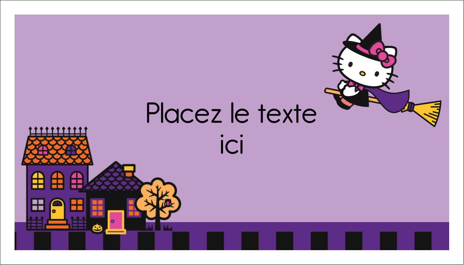 "3"" x 5"" Cartes Pour Le Bureau - Halloween Hello Kitty"