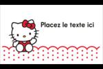 Salut Hello Kitty Cartes Pour Le Bureau - gabarit prédéfini. <br/>Utilisez notre logiciel Avery Design & Print Online pour personnaliser facilement la conception.