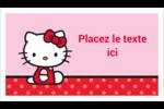 Hello Kitty super mignonne Cartes Pour Le Bureau - gabarit prédéfini. <br/>Utilisez notre logiciel Avery Design & Print Online pour personnaliser facilement la conception.