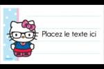 Hello Kitty avec des lunettes Cartes Pour Le Bureau - gabarit prédéfini. <br/>Utilisez notre logiciel Avery Design & Print Online pour personnaliser facilement la conception.