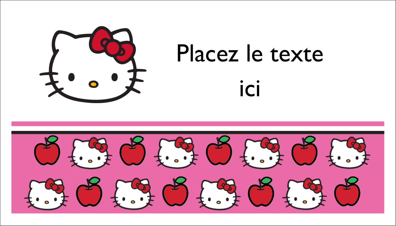 """3"""" x 5"""" Cartes Pour Le Bureau - Hello Kitty adore les pommes!"""