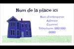 Maison hantée d'Halloween à la craie Cartes Pour Le Bureau - gabarit prédéfini. <br/>Utilisez notre logiciel Avery Design & Print Online pour personnaliser facilement la conception.