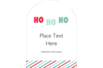 Add Santa's signature laugh to projects with pre-designed Graphic Ho Ho Ho templates.