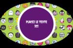 Émoji d'Halloween Étiquettes carrées - gabarit prédéfini. <br/>Utilisez notre logiciel Avery Design & Print Online pour personnaliser facilement la conception.