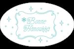 Hanoukka fantaisiste Étiquettes ovales - gabarit prédéfini. <br/>Utilisez notre logiciel Avery Design & Print Online pour personnaliser facilement la conception.