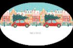 Coccinelle festive Étiquettes ovales - gabarit prédéfini. <br/>Utilisez notre logiciel Avery Design & Print Online pour personnaliser facilement la conception.