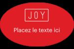 Calque de texte minimaliste Étiquettes carrées - gabarit prédéfini. <br/>Utilisez notre logiciel Avery Design & Print Online pour personnaliser facilement la conception.