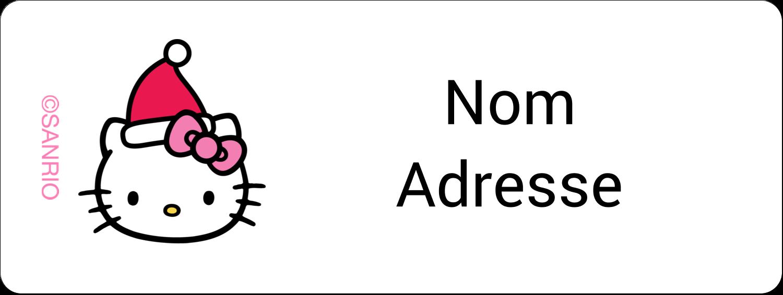 """1½"""" x 4"""" Étiquettes D'Adresse - Canne en bonbon de Noël Hello Kitty"""