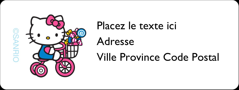 """1½"""" x 4"""" Étiquettes D'Adresse - Le plus joli vélo"""