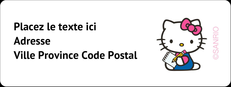 """1½"""" x 4"""" Étiquettes D'Adresse - Prendre une note"""