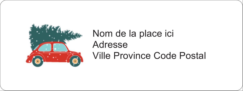 Coccinelle festive Étiquettes D'Adresse - gabarit prédéfini. <br/>Utilisez notre logiciel Avery Design & Print Online pour personnaliser facilement la conception.