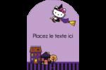 Halloween Hello Kitty Étiquettes rectangulaires - gabarit prédéfini. <br/>Utilisez notre logiciel Avery Design & Print Online pour personnaliser facilement la conception.