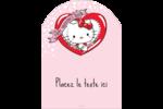 Hello Kitty Saint-Valentin Étiquettes rectangulaires - gabarit prédéfini. <br/>Utilisez notre logiciel Avery Design & Print Online pour personnaliser facilement la conception.