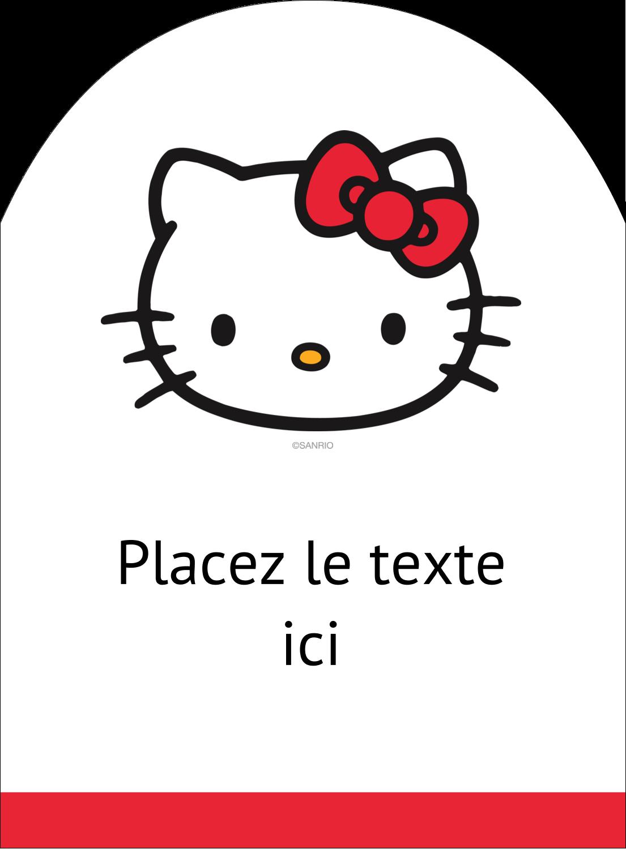 """4¾"""" x 3½"""" Étiquettes rectangulaires - Bonjour Ami!"""