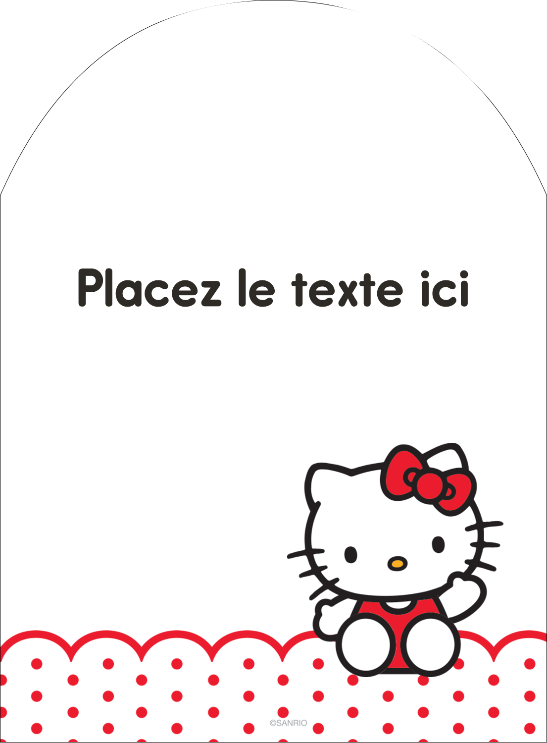 "4¾"" x 3½"" Étiquettes rectangulaires - Salut Hello Kitty"