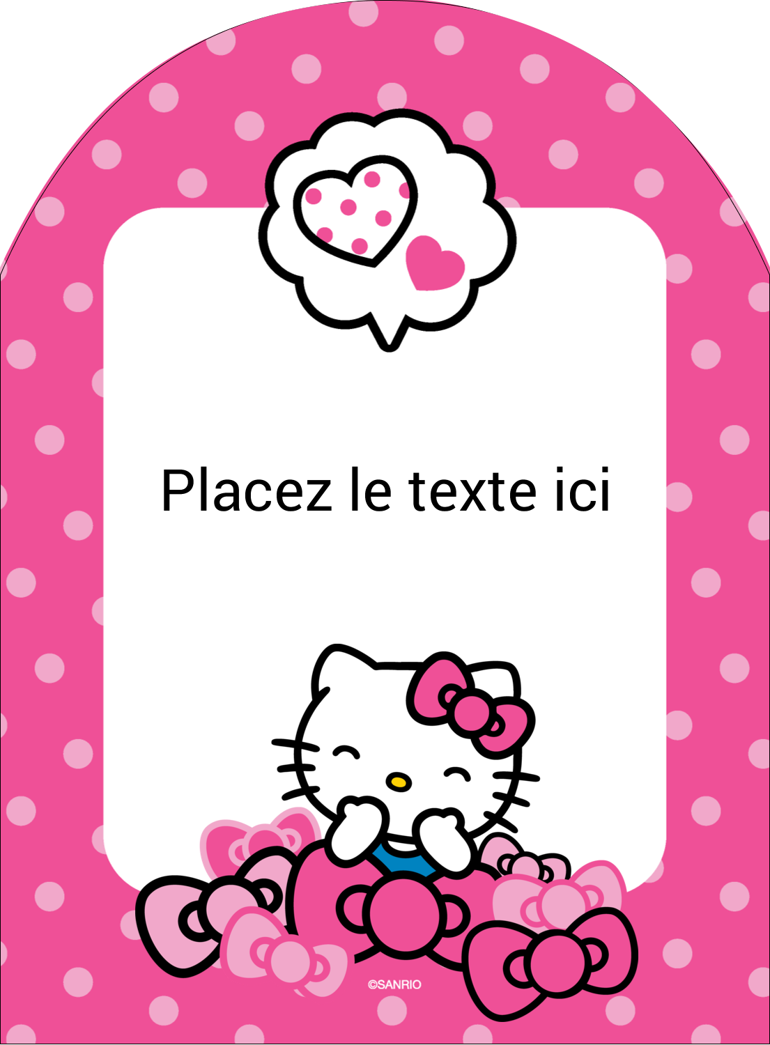 "4¾"" x 3½"" Étiquettes rectangulaires - Hello Kitty rigole"