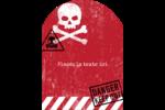 Apocalypse zombie d'Halloween Étiquettes rectangulaires - gabarit prédéfini. <br/>Utilisez notre logiciel Avery Design & Print Online pour personnaliser facilement la conception.