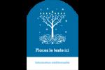 Arbre de Hanoukka Étiquettes rectangulaires - gabarit prédéfini. <br/>Utilisez notre logiciel Avery Design & Print Online pour personnaliser facilement la conception.