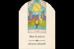 Cartes du tarot pour Halloween Étiquettes rectangulaires - gabarit prédéfini. <br/>Utilisez notre logiciel Avery Design & Print Online pour personnaliser facilement la conception.