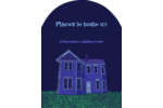 Maison hantée d'Halloween à la craie Étiquettes rectangulaires - gabarit prédéfini. <br/>Utilisez notre logiciel Avery Design & Print Online pour personnaliser facilement la conception.