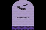 Chauves-souris d'Halloween Étiquettes rectangulaires - gabarit prédéfini. <br/>Utilisez notre logiciel Avery Design & Print Online pour personnaliser facilement la conception.