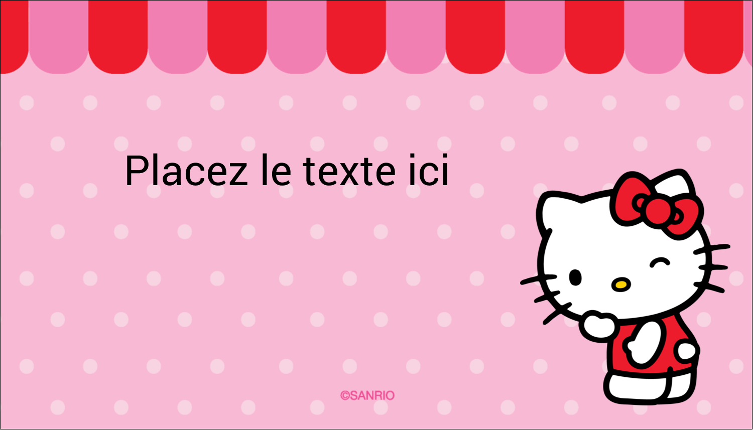 "2"" x 3½"" Carte d'affaire - Clin d'œil Hello Kitty"