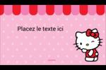 Clin d'œil Hello Kitty Carte d'affaire - gabarit prédéfini. <br/>Utilisez notre logiciel Avery Design & Print Online pour personnaliser facilement la conception.