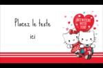 Hello Kitty et Cher Daniel Valentin Carte d'affaire - gabarit prédéfini. <br/>Utilisez notre logiciel Avery Design & Print Online pour personnaliser facilement la conception.