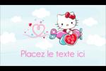 Hello Kitty Saint-Valentin - Mon cœur monte pour vous Carte d'affaire - gabarit prédéfini. <br/>Utilisez notre logiciel Avery Design & Print Online pour personnaliser facilement la conception.