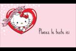 Hello Kitty Saint-Valentin Carte d'affaire - gabarit prédéfini. <br/>Utilisez notre logiciel Avery Design & Print Online pour personnaliser facilement la conception.