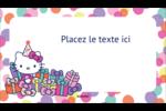 Hello Kitty Anniversaire Carte d'affaire - gabarit prédéfini. <br/>Utilisez notre logiciel Avery Design & Print Online pour personnaliser facilement la conception.