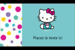 Fête Hello Kitty Carte d'affaire - gabarit prédéfini. <br/>Utilisez notre logiciel Avery Design & Print Online pour personnaliser facilement la conception.