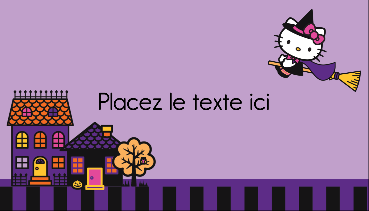 "2"" x 3½"" Carte d'affaire - Halloween Hello Kitty"
