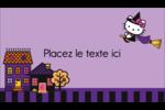 Halloween Hello Kitty Carte d'affaire - gabarit prédéfini. <br/>Utilisez notre logiciel Avery Design & Print Online pour personnaliser facilement la conception.