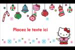 Hello Kitty Fêtes Carte d'affaire - gabarit prédéfini. <br/>Utilisez notre logiciel Avery Design & Print Online pour personnaliser facilement la conception.