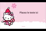 Canne en bonbon de Noël Hello Kitty Carte d'affaire - gabarit prédéfini. <br/>Utilisez notre logiciel Avery Design & Print Online pour personnaliser facilement la conception.