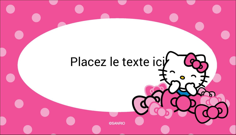 "2"" x 3½"" Carte d'affaire - Hello Kitty rigole"
