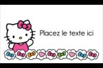 Hello Kitty Cœurs et Nœuds Carte d'affaire - gabarit prédéfini. <br/>Utilisez notre logiciel Avery Design & Print Online pour personnaliser facilement la conception.