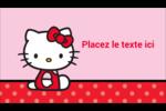Hello Kitty super mignonne Carte d'affaire - gabarit prédéfini. <br/>Utilisez notre logiciel Avery Design & Print Online pour personnaliser facilement la conception.