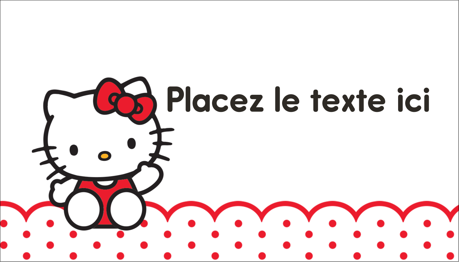 "2"" x 3½"" Carte d'affaire - Salut Hello Kitty"