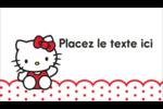 Salut Hello Kitty Carte d'affaire - gabarit prédéfini. <br/>Utilisez notre logiciel Avery Design & Print Online pour personnaliser facilement la conception.
