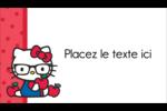 Votre Ami Hello Kitty Carte d'affaire - gabarit prédéfini. <br/>Utilisez notre logiciel Avery Design & Print Online pour personnaliser facilement la conception.