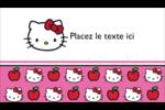 Hello Kitty adore les pommes! Carte d'affaire - gabarit prédéfini. <br/>Utilisez notre logiciel Avery Design & Print Online pour personnaliser facilement la conception.