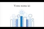 Chandelier bleu de Hanoukka  Carte d'affaire - gabarit prédéfini. <br/>Utilisez notre logiciel Avery Design & Print Online pour personnaliser facilement la conception.